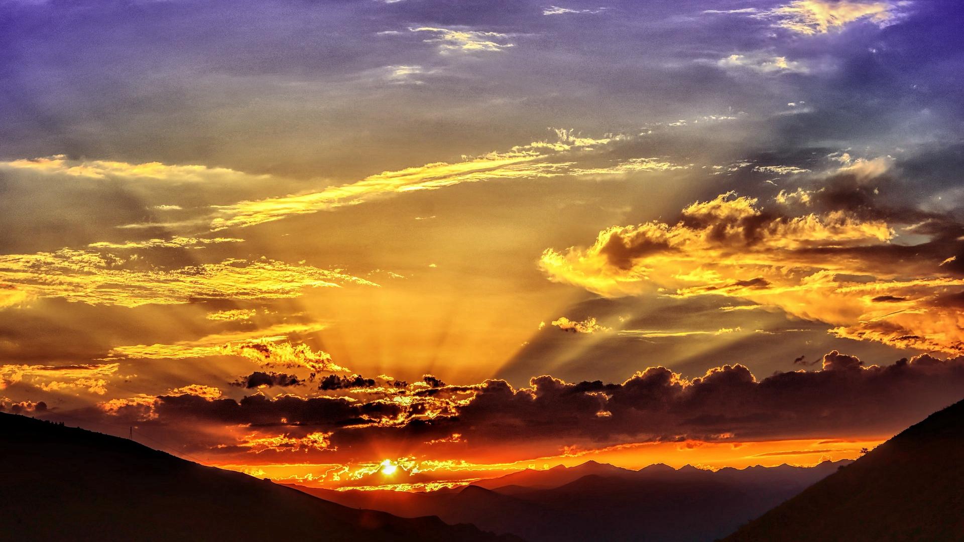 清新唯美日出美景桌面壁纸